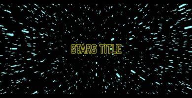Nueva PLANTILLA de gráficos animados: Sci-Fi STARS Title (MOGRT)